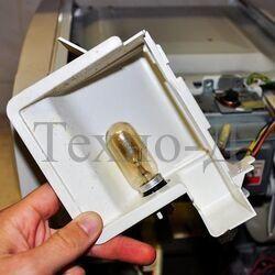 Замена лампочки микроволновой печи б/у